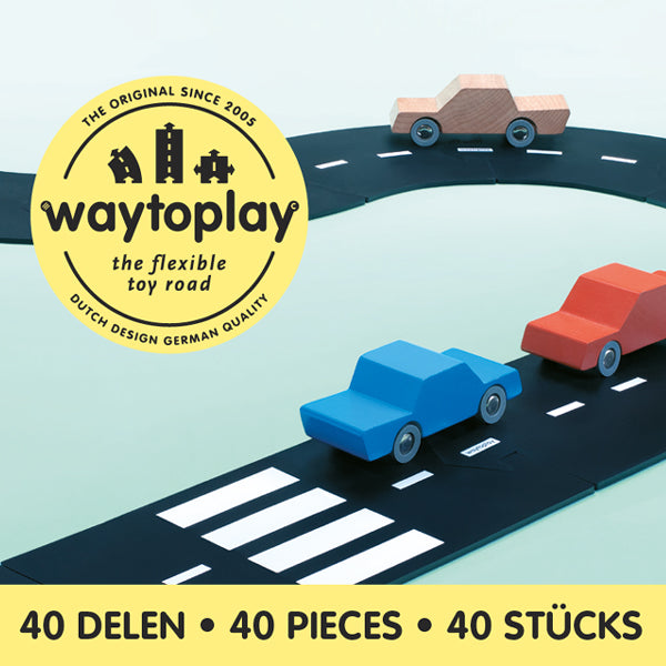 Waytoplay Flexible Toy Road – King of the Road 40 pieces