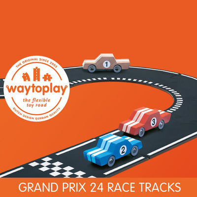Waytoplay Flexible Toy Road – Grand Prix 24 pieces