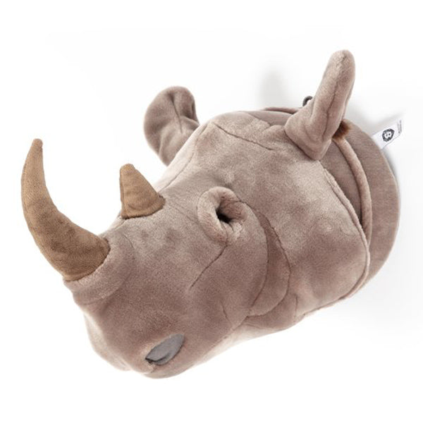 Wild and Soft Animal Head – Rhino Michael (light grey)