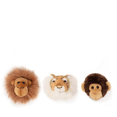 Wild and Soft Mini Animal Heads – Jungle Gift Box