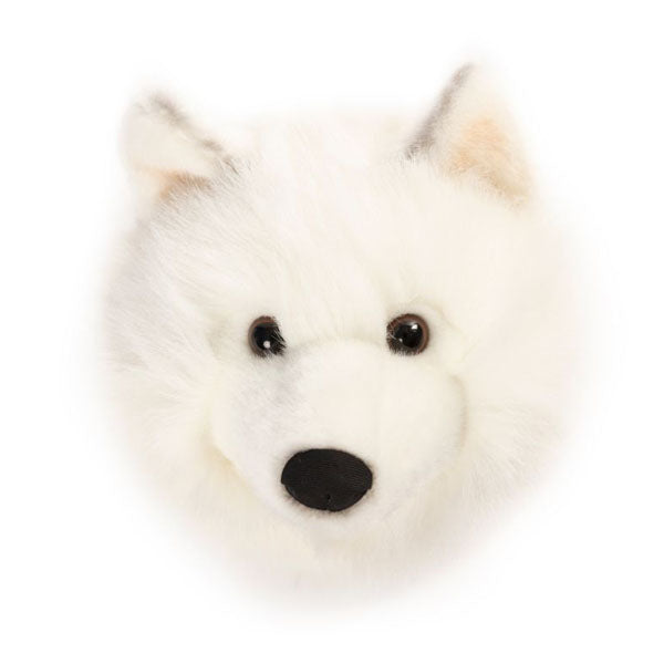Wild and Soft Animal Head – White Wolf Lucy