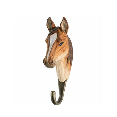 Wildlife Garden Hand Carved Animal Hook - Arab Horse