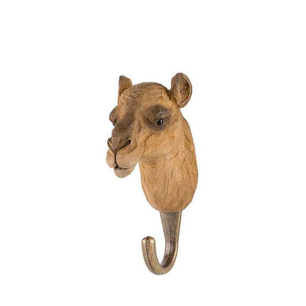 Wildlife Garden Hand Carved Animal Hook - Camel