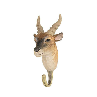 Wildlife Garden Hand Carved Animal Hook - Common Eland