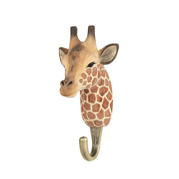Wildlife Garden Hand Carved Animal Hook - Giraffe