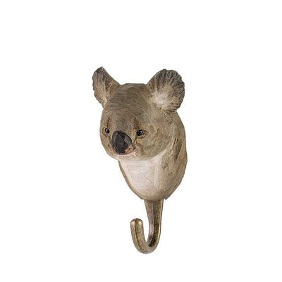 Wildlife Garden Hand Carved Animal Hook - Koala