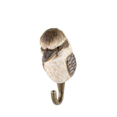 Wildlife Garden Hand Carved Animal Hook - Kookaburra