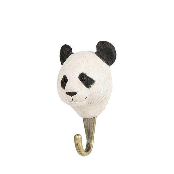 Wildlife Garden Hand Carved Animal Hook - Panda