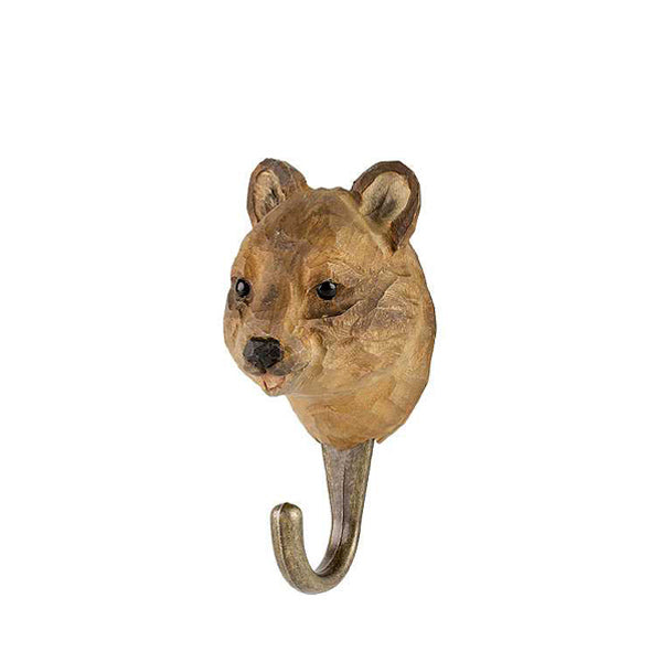 Wildlife Garden Hand Carved Animal Hook - Quokka
