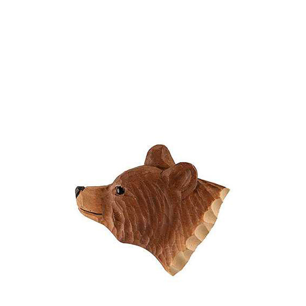 Wildlife Garden Hand Carved Animal Magnet - Brown Bear