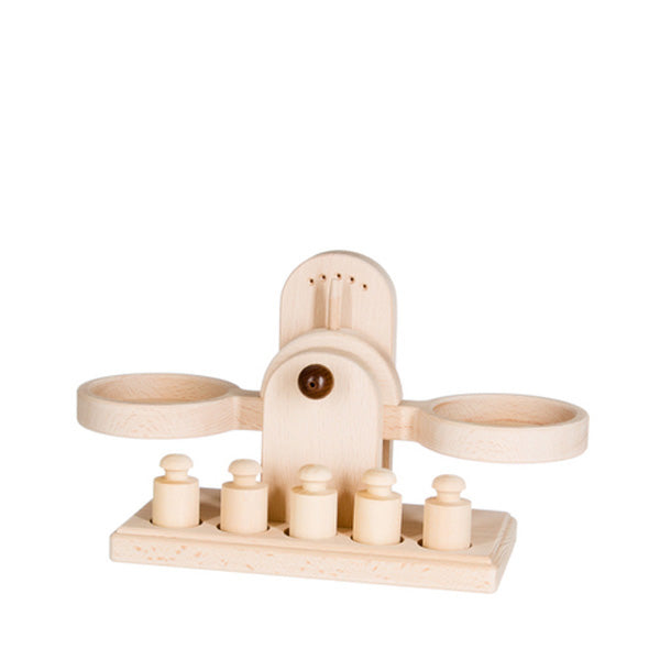 Classic Wooden Balance Scale - Natural
