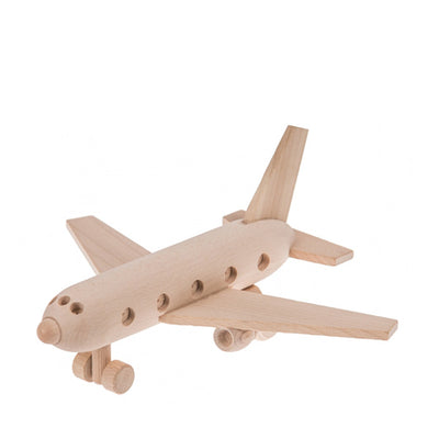Wooden Passenger Plane - Natural