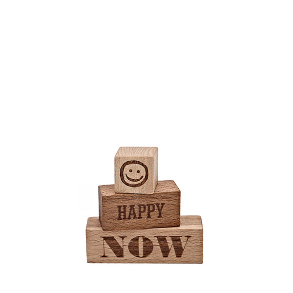 Wooden Story Message Blocks – Now Happy