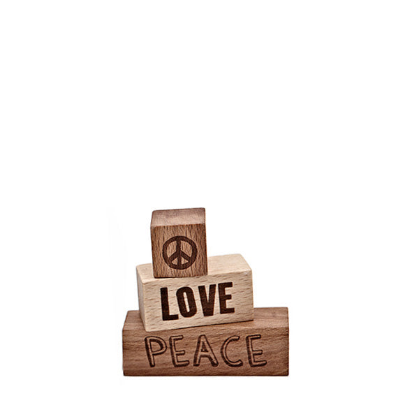 Wooden Story Message Blocks – Peace Love
