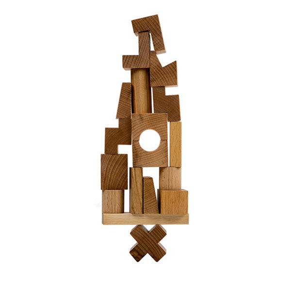 Wooden Story Stacking Tower - Natural