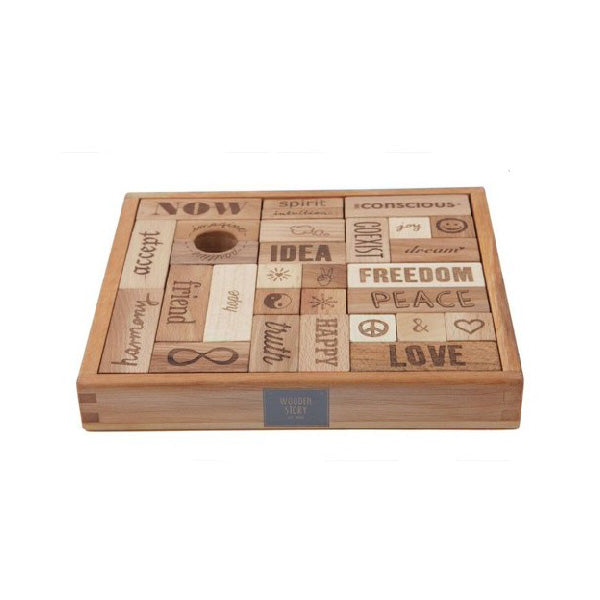Wooden Story Peace And Love Blocks – 29 pcs