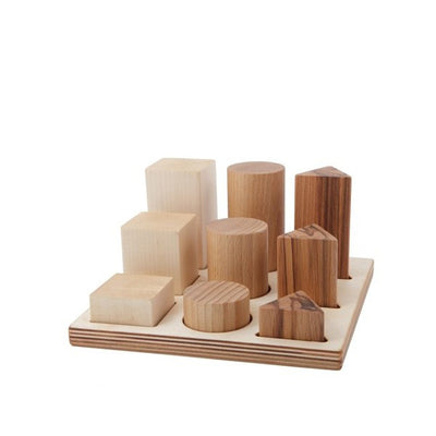 Wooden Story Shape Sorter Board XL – Natural
