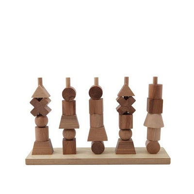 Wooden Story Stacking Toy – Natural