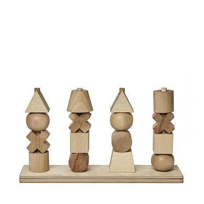 Wooden Story Stacking Toy XL – Natural