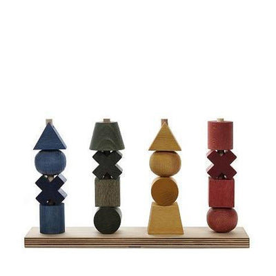Wooden Story Stacking Toy XL – Rainbow