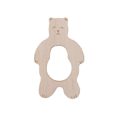 Wooden Story Teether – Smiley Bear