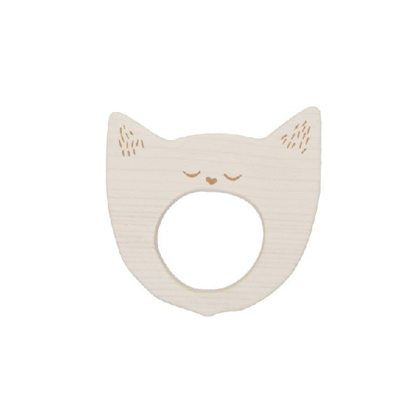 Wooden Story Teether – Yawning Cat