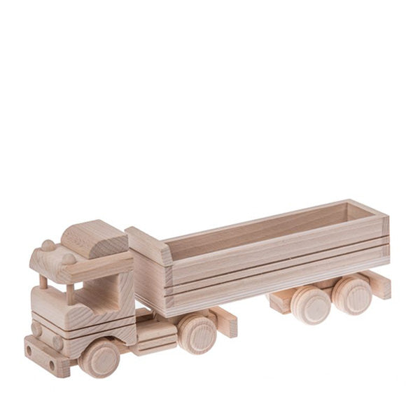 Wooden Truck with Trailer - Natural