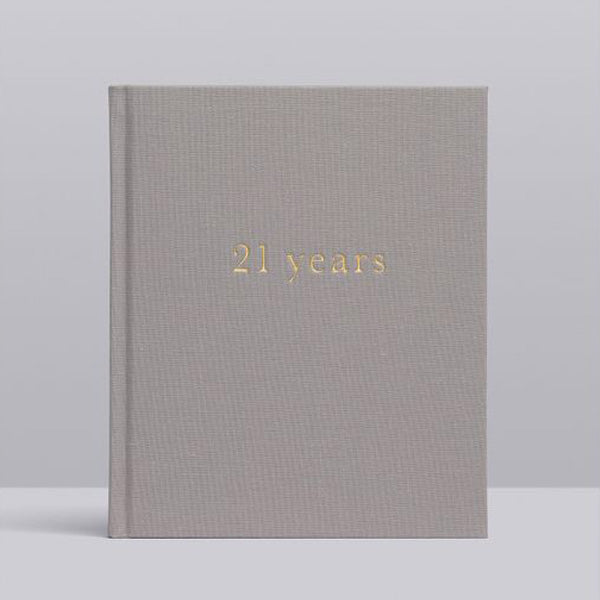 Write To Me 21 Years Journal - 21 Years Of You  • Light Grey