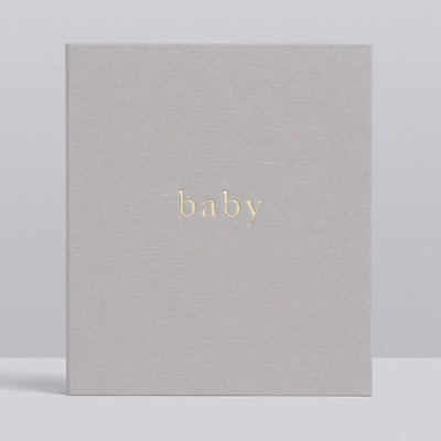 Write to Me Baby Journal - Your First Five Years • Light Grey