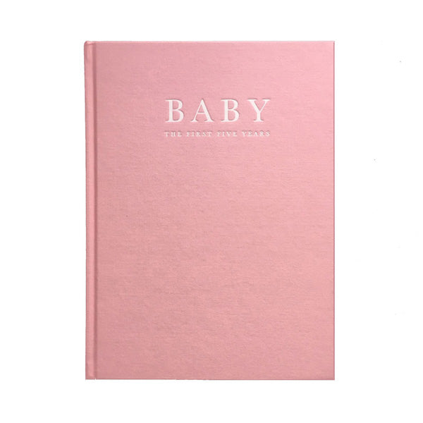 Write To Me Baby Journal - The First Five Years • Pink