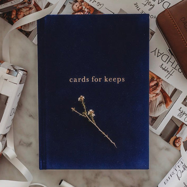 Write To Me Cards for Keeps Journal - Navy