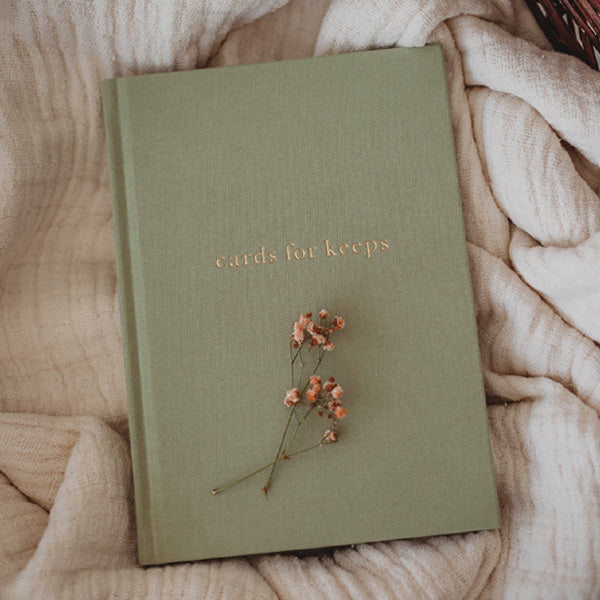 Write To Me Cards for Keeps Journal - Sage Green