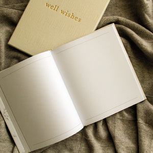 Write To Me Well Wishes - Guest Book • White
