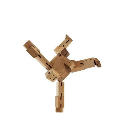 Areaware wooden toys cubebot natural micro puzzle
