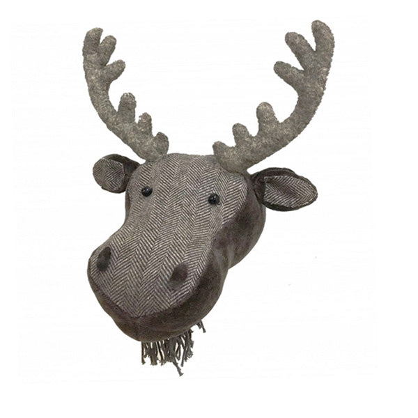 Fiona Walker Animal Head - Herringbone Moose
