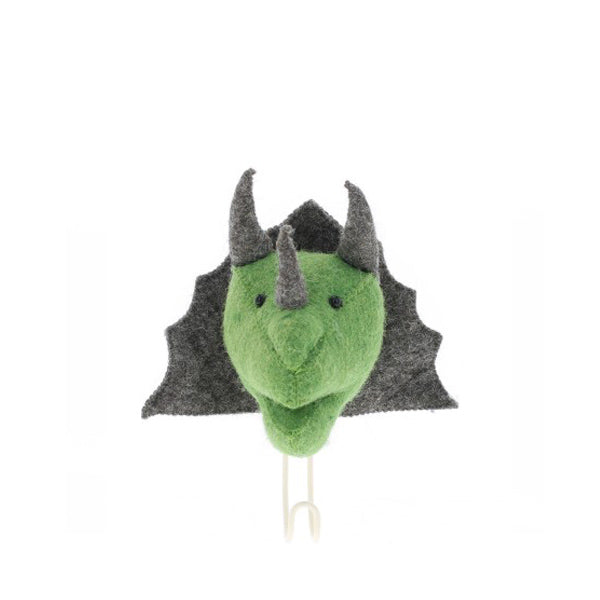 Fiona Walker Animal Head Hook – Triceratops
