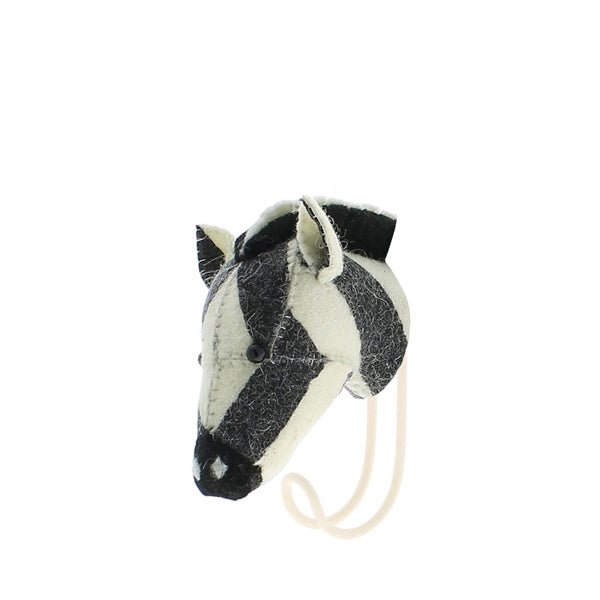 Fiona Walker Animal Head Hook – Zebra