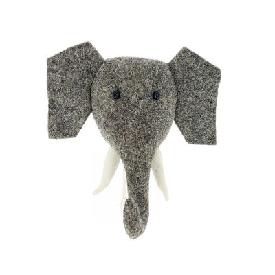 Fiona Walker Elephant Animal Head Hook - Trunk Up