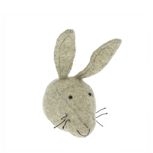 Fiona Walker Mini Animal Head – Grey Hare