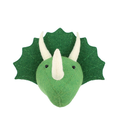 Fiona Walker Mini Dinosaur Head – Triceratops