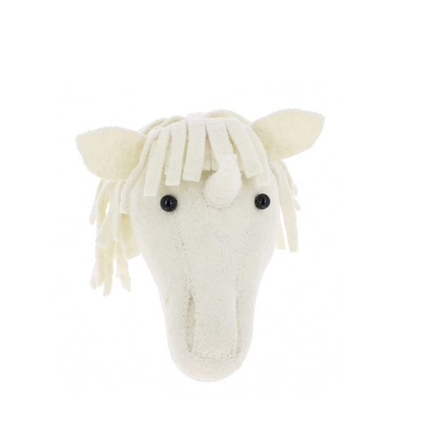 Fiona Walker Mini Animal Head – Unicorn