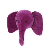 Fiona Walker Mini Velvet Elephant Head – Fuchsia