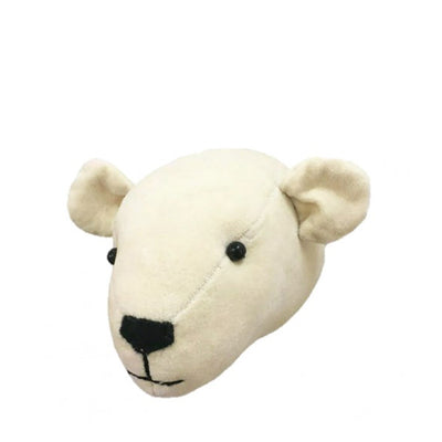 Fiona Walker Mini Velvet Animal Head – Polar Bear