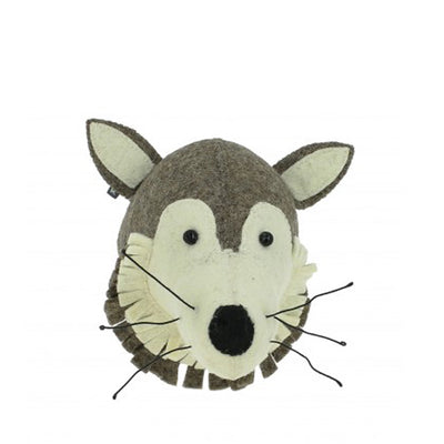 Fiona Walker Mini Animal Head – Wolf