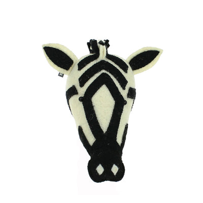 Fiona Walker Mini Animal Head – Zebra
