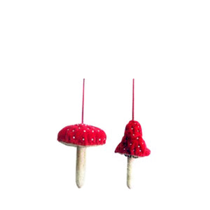 Fiona Walker Velvet Mushroom Red - Set of 2