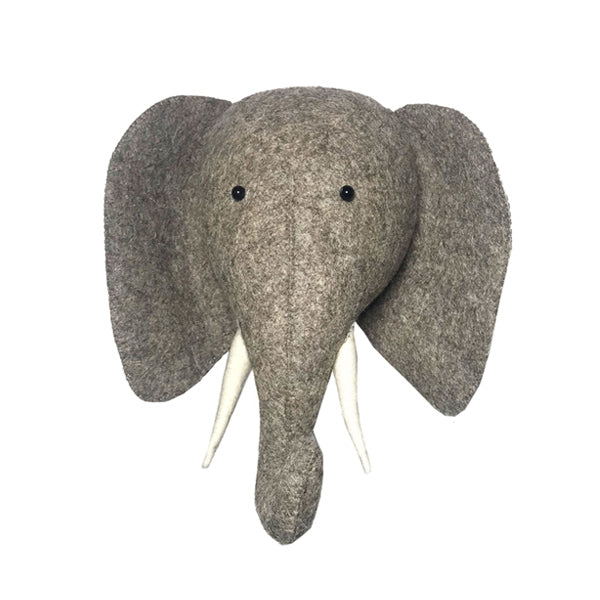 Fiona Walker Semi Animal Head – Elephant with Trunk Up
