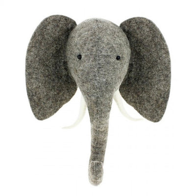 Fiona Walker Elephant with Trunk Up Animal Head