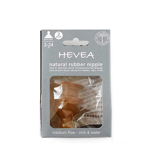 Hevea Natural Rubber Bottle Nipple Anti Colic 2-pack