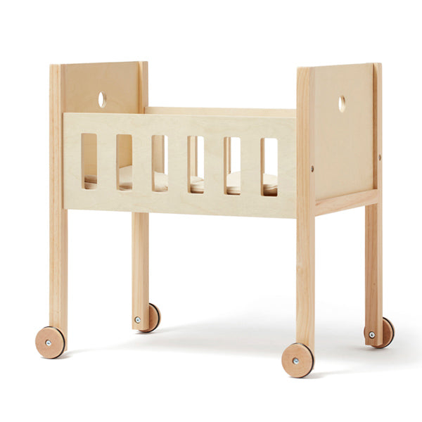 Kid's Concept High Doll's Bed with Wheels - Nature